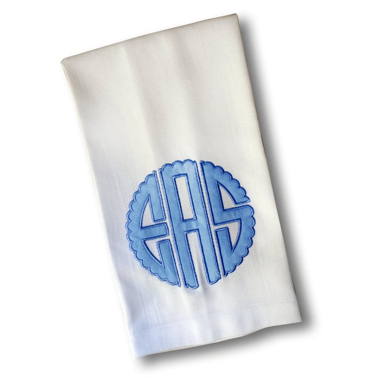 Applique Monogrammed Guest Towel