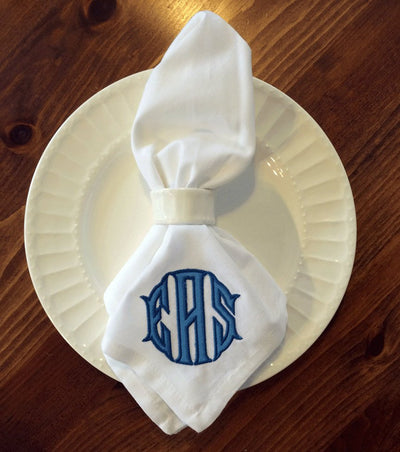 Applique Monogrammed Napkins - Set of Four