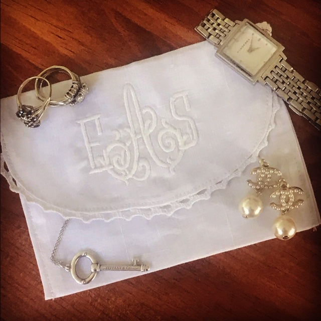 Monogrammed Jewelry Bag