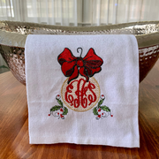 Monogrammed Holiday Ornament Towel