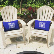 Monogrammed Outdoor Pillow