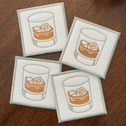 Monogrammed Rocks Glass Coasters (Set of Four)