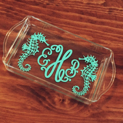 Monogrammed Acrylic Cocktail Tray