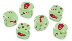 Zombicide: 6 Glow-in-the-Dark Dice Set