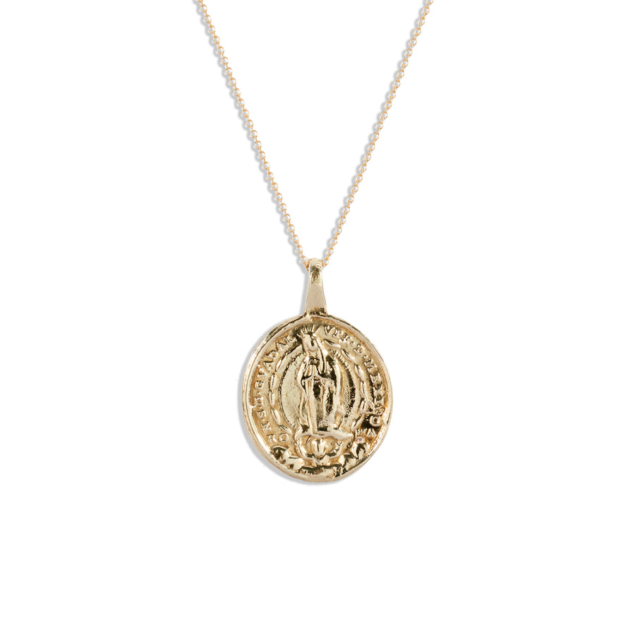 Sacred Heart of Mary Medallion Pendant