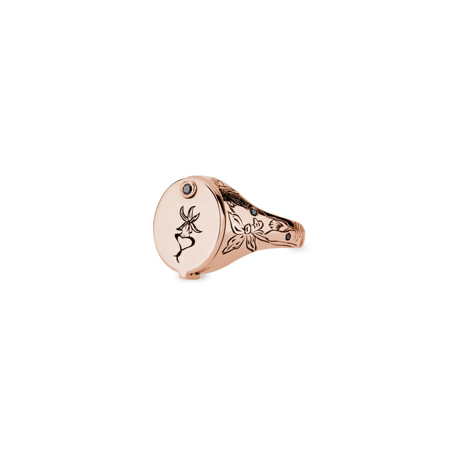 Snake in the Grass Conservatory Signet - Rose Gold