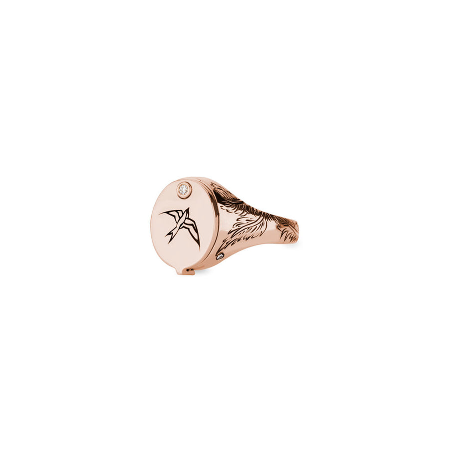 Nightingale Conservatory Signet - Rose Gold