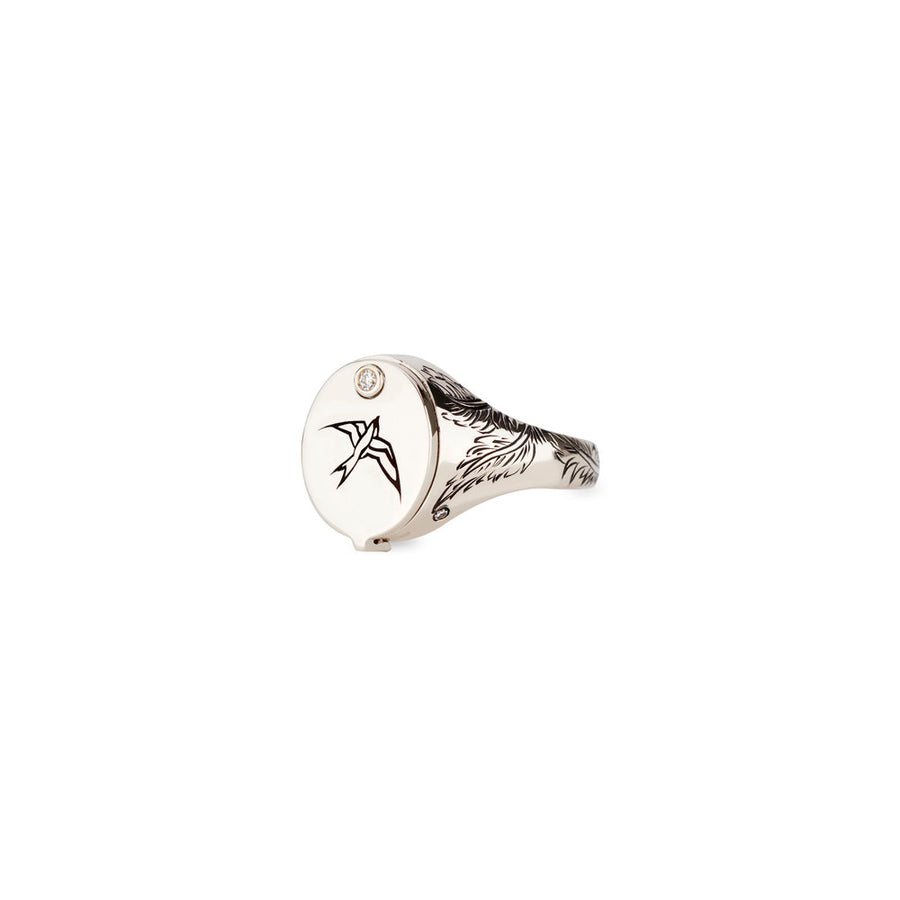 Nightingale Conservatory Signet - White Gold