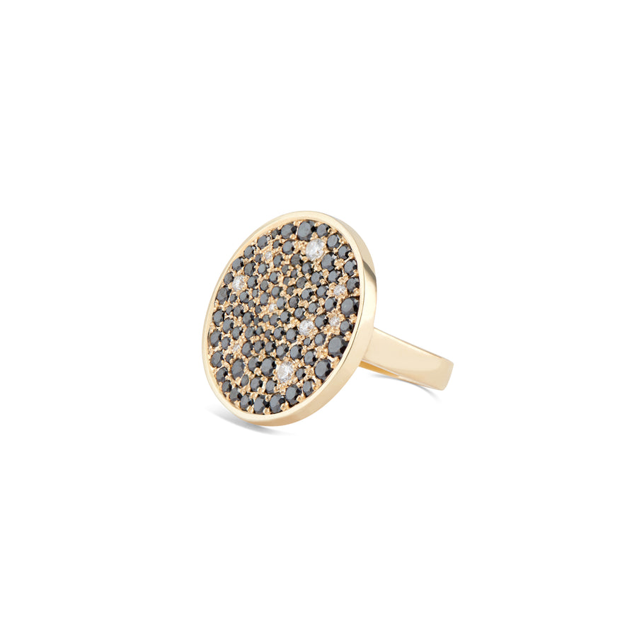 Galaxy Pavé Ring - Black Diamond