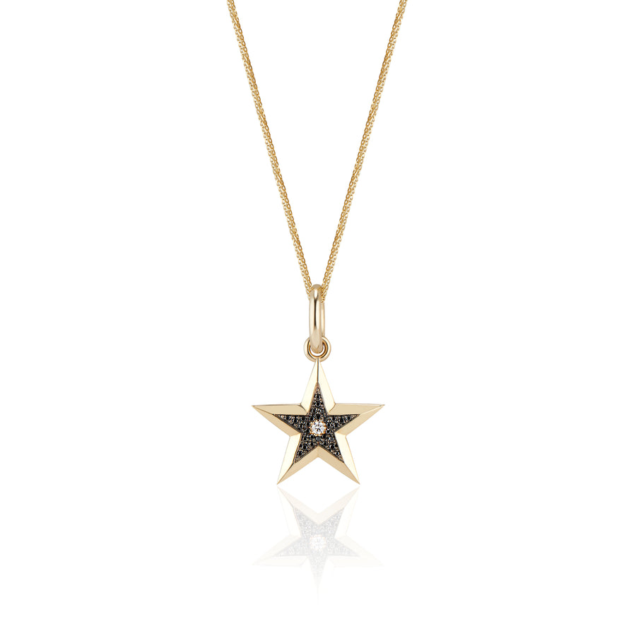 Star Pendant w/ Black Diamonds