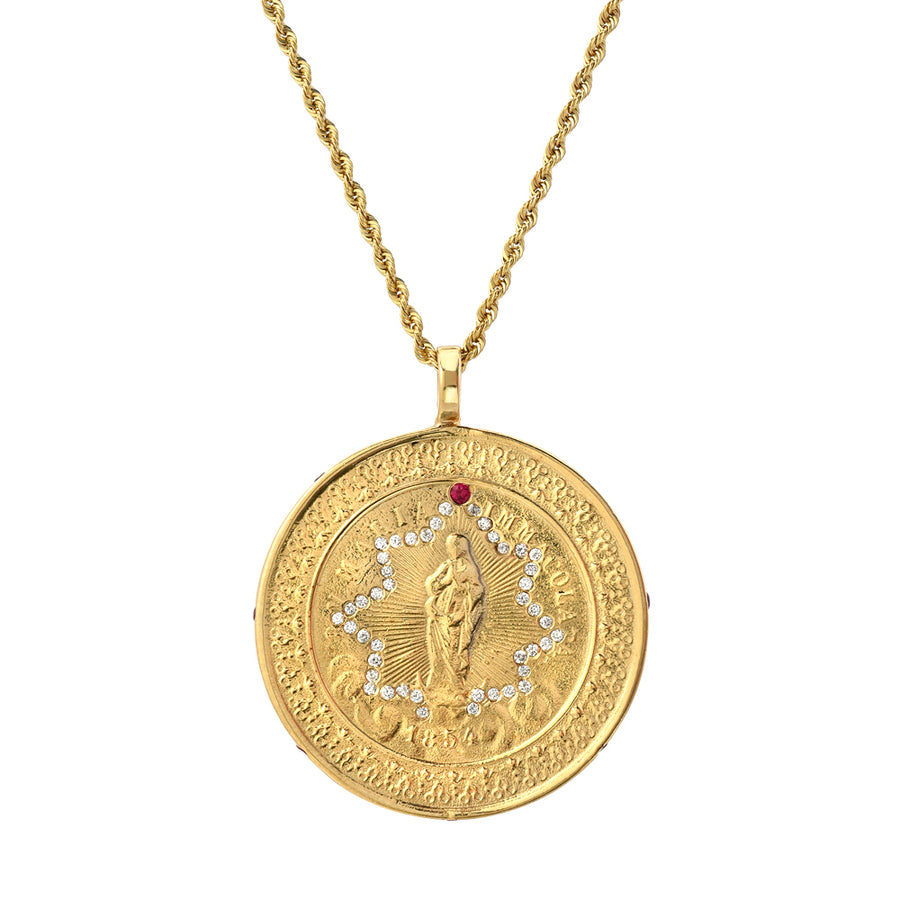 Mother Mary Medallion Pendant