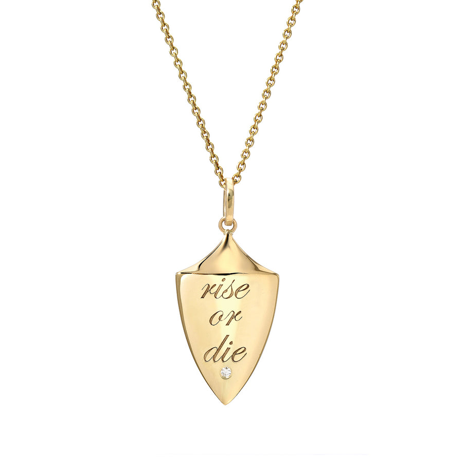 Rise or Die Shield Pendant