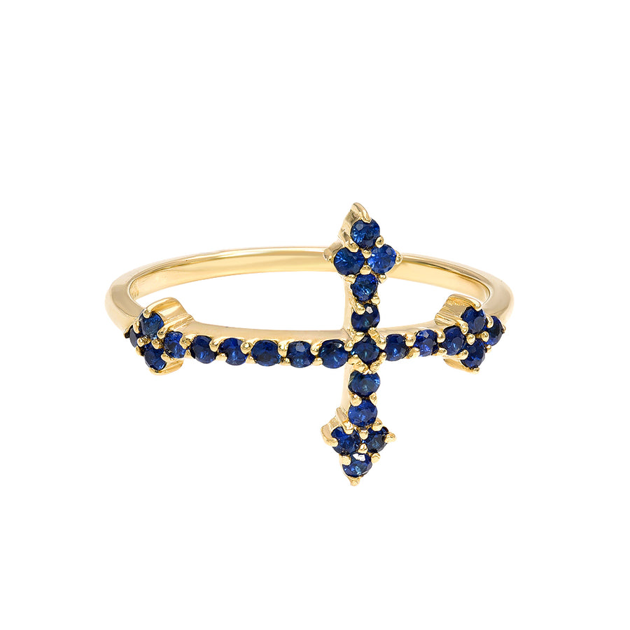 Cross Your Fingers Ring w/ Sapphires