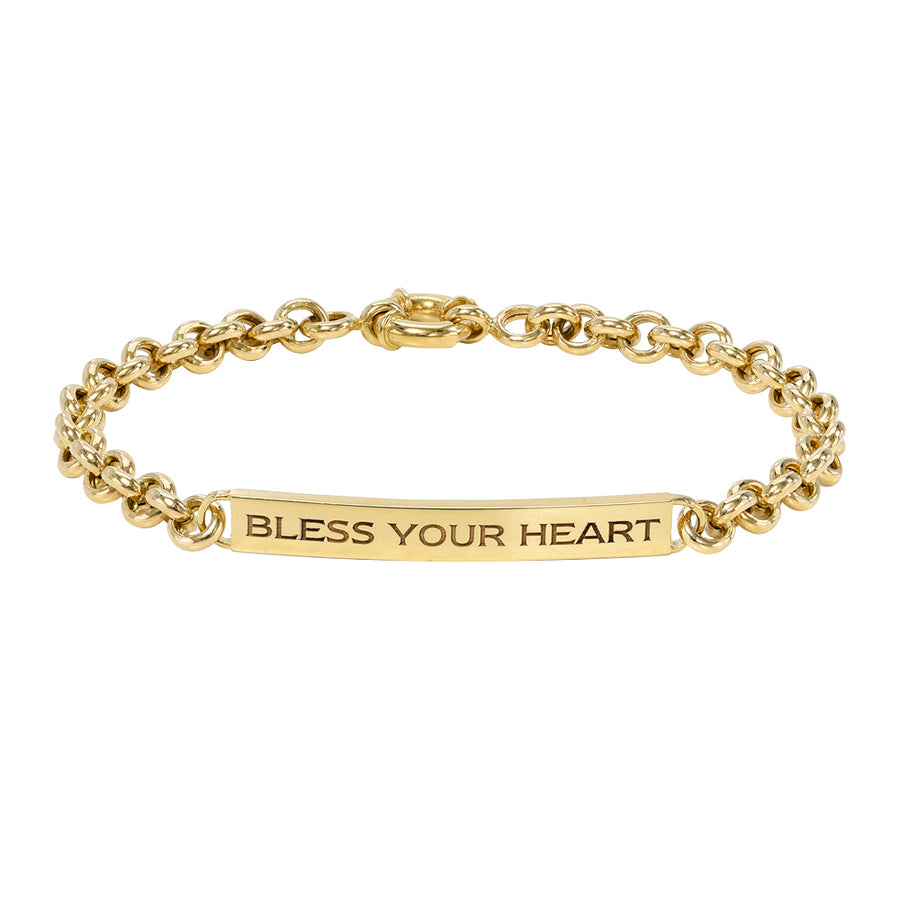 Bless Your Heart ID Bracelet