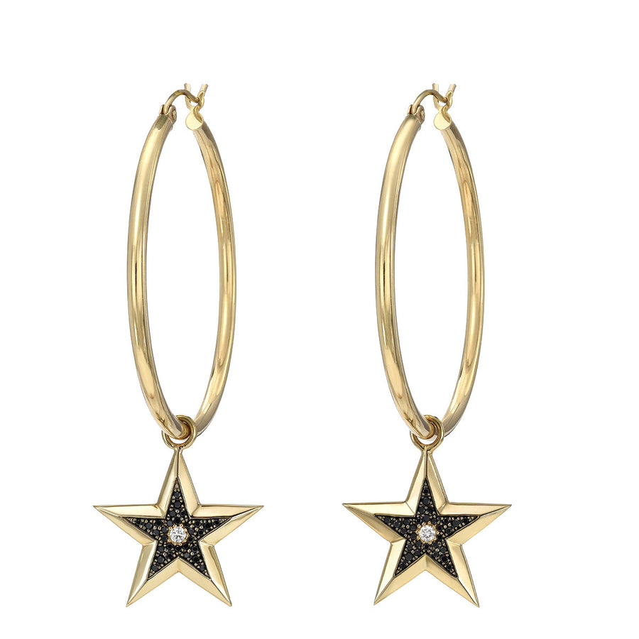 Hoops w/ Star Charms
