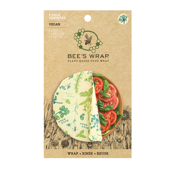Bee's Wrap | Assorted (Set of 3) VEGAN HERB