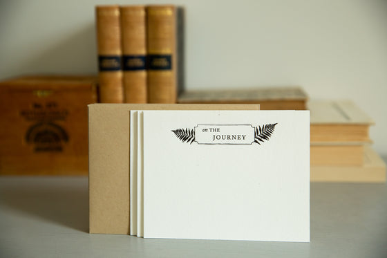 Letterpress Note Cards | Journey