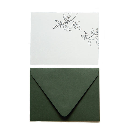 Letterpress Note Cards | Basil
