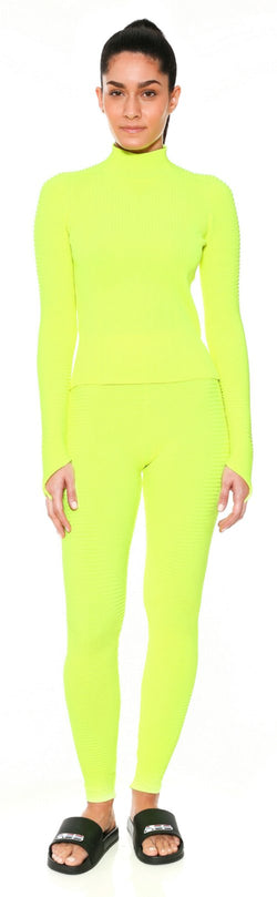 neon top knit sweater adam selman workout work out clothes