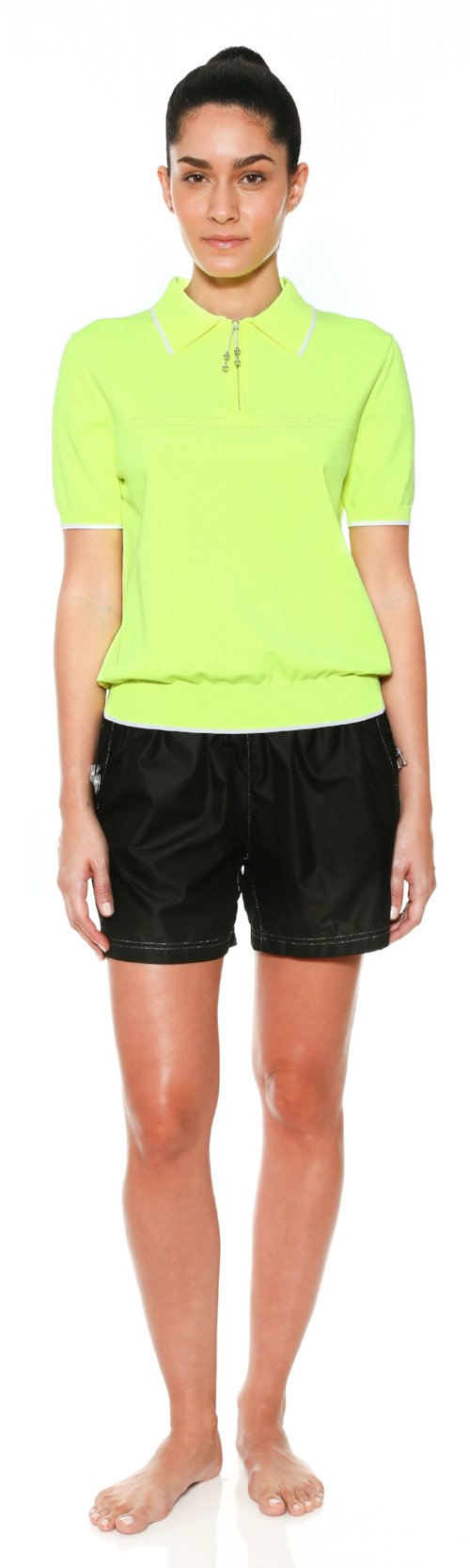 top polo logo knit neon adam selman activewear work out workingout