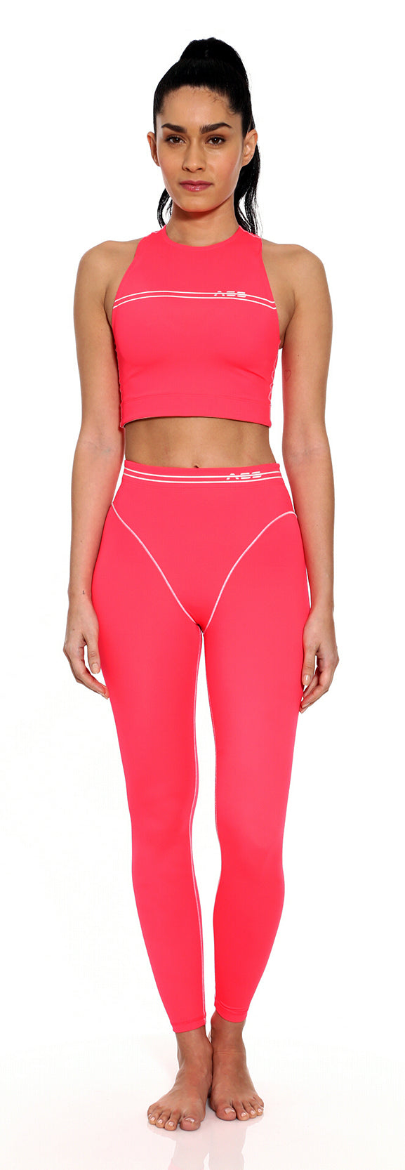 French Cut Legging - Watermelon