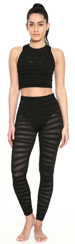 French Cut Legging - Black Stripe