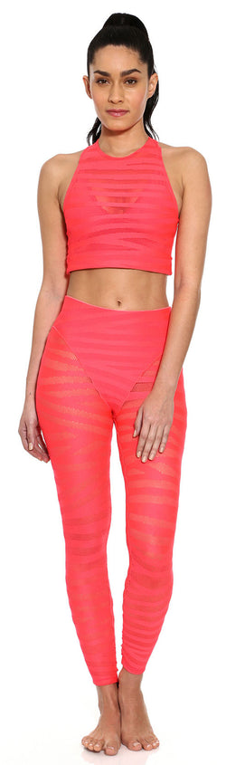 Racer Crop Top - Watermelon Stripe