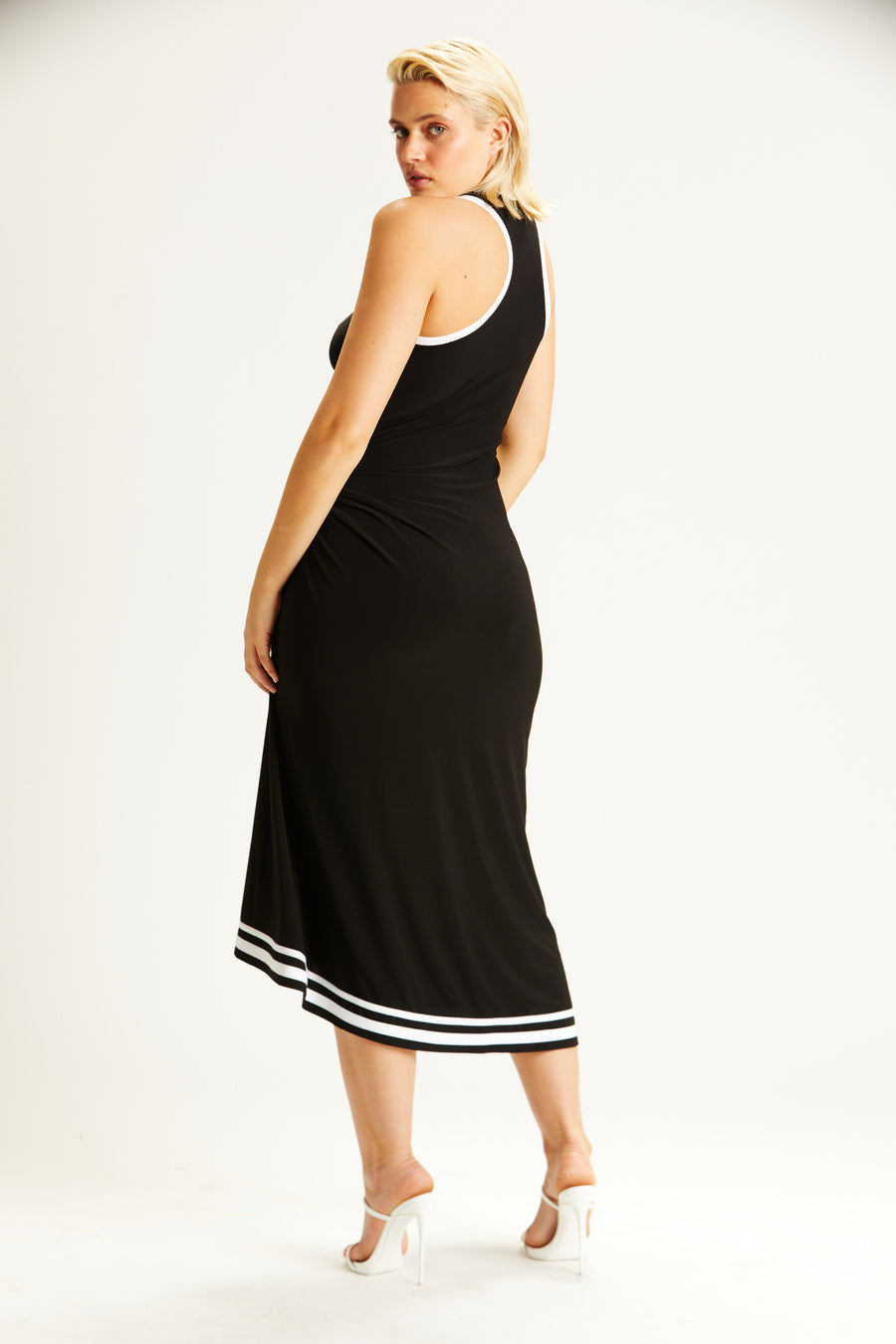 Ruched Slit Dress