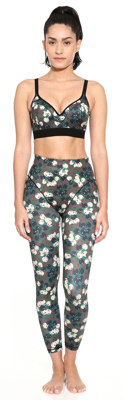 French Cut Legging - Classic Cherry Camo