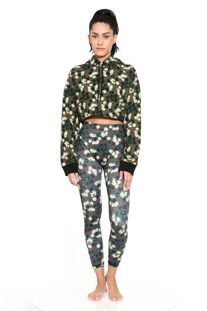 Cropped Hoodie- Classic Camo