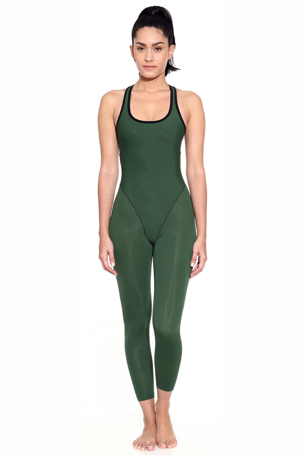 French Cut Catsuit - Army