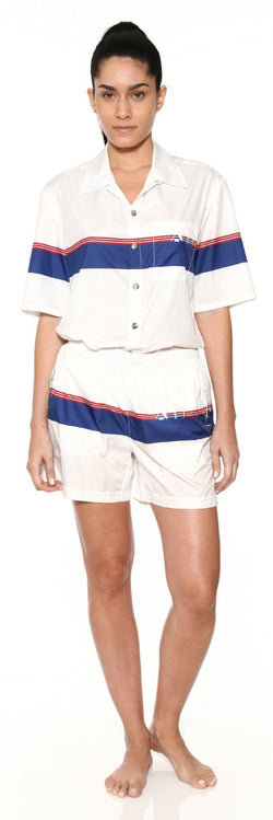 Unisex Gym Short - Logo Stripe