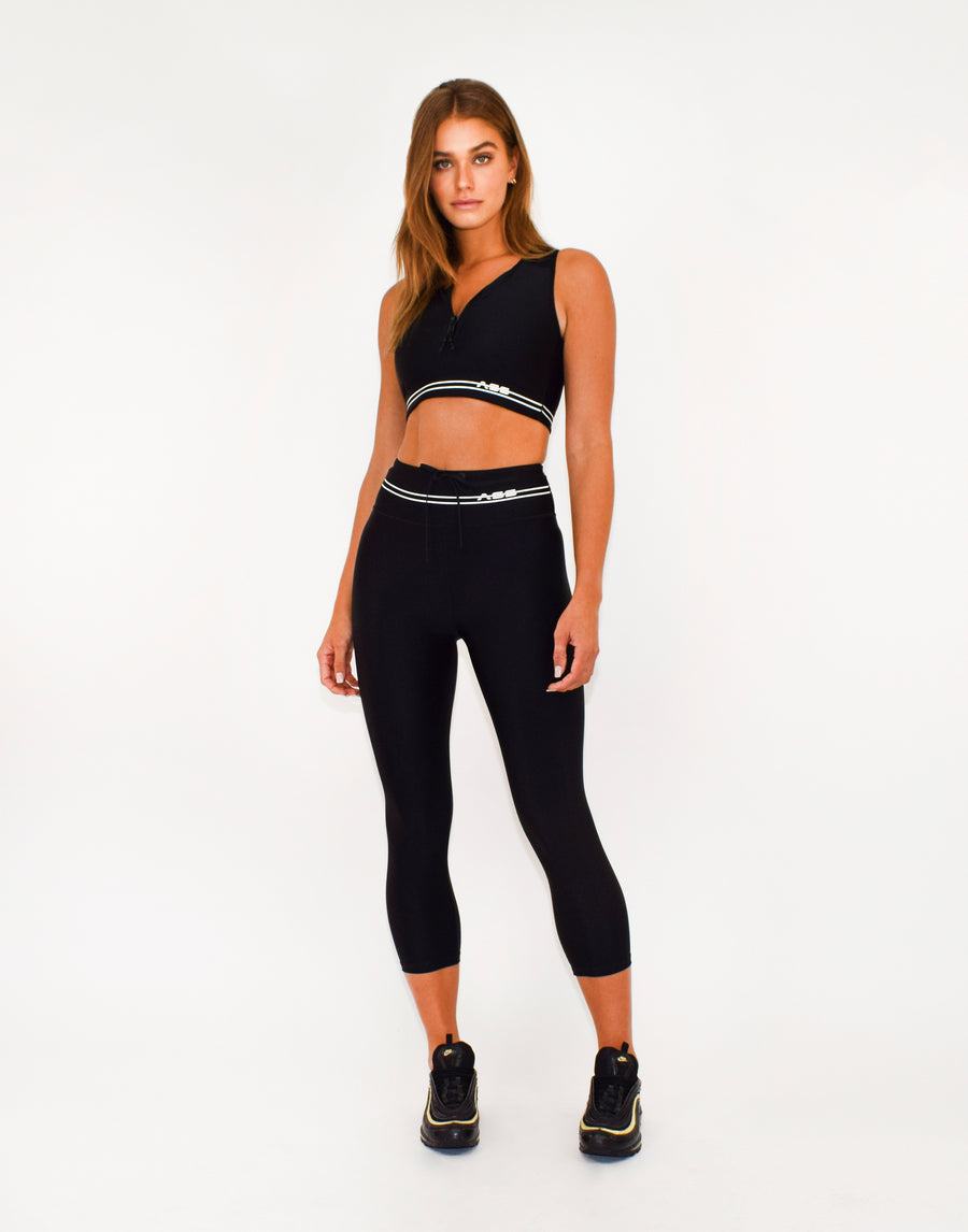 Zip Front Crop Top