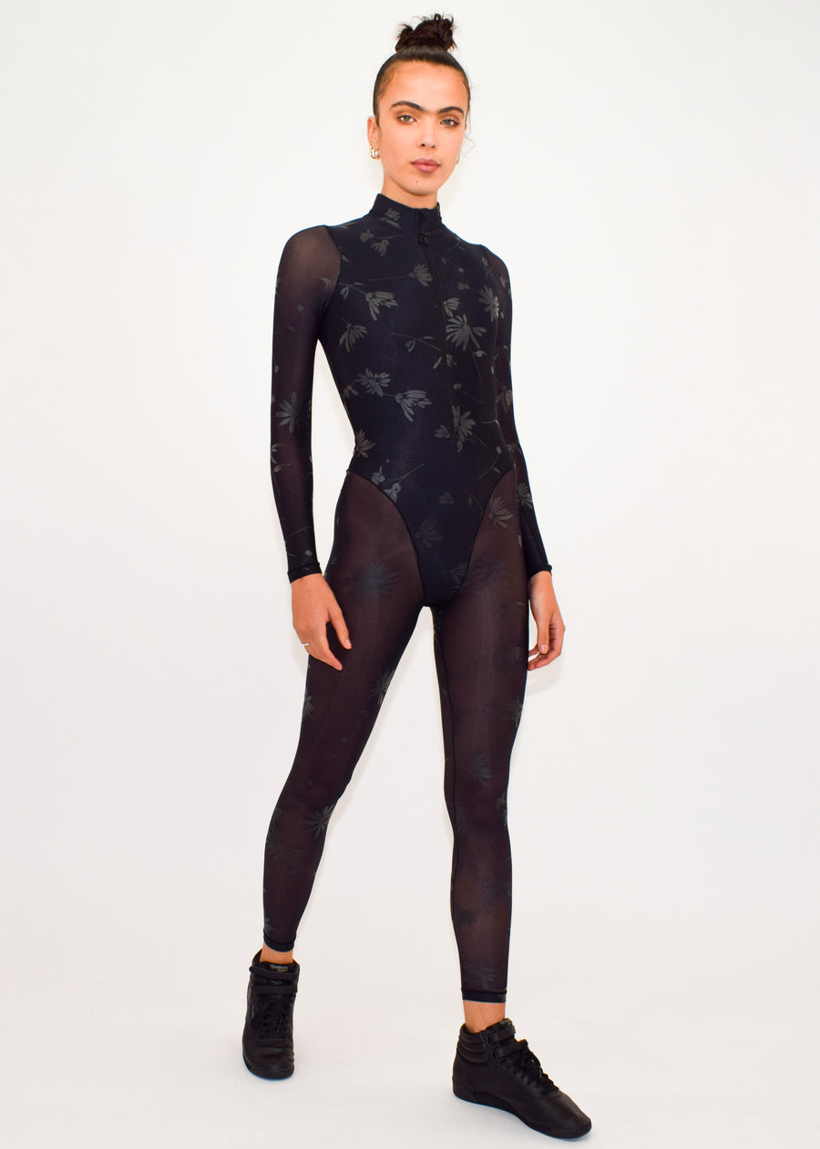 Long Sleeve French Cut Catsuit