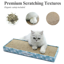 Load image into Gallery viewer, VIVAGLORY Reversible Cat Scratcher Cardboard with Box