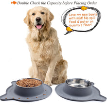 Load image into Gallery viewer, VIVAGLORY Dog Bowls, 2 Pack, 52 oz each