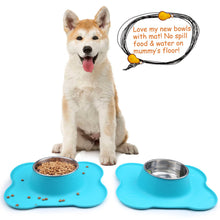 Load image into Gallery viewer, VIVAGLORY Dog Bowls Set, 2 Pack