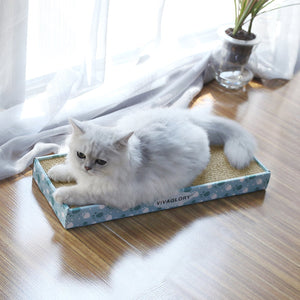 VIVAGLORY Reversible Cat Scratcher Cardboard with Box
