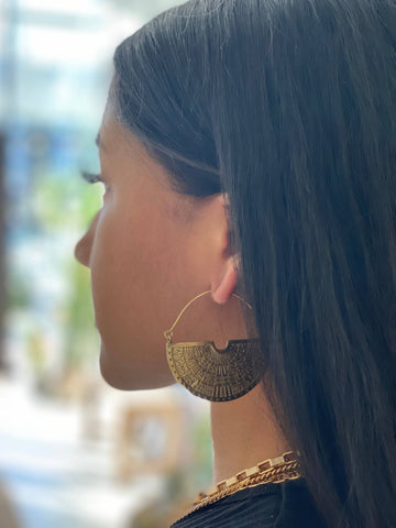 Loopa Brass Earrings
