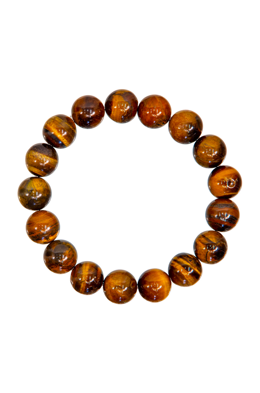 12mm Tiger Eye Bracelet
