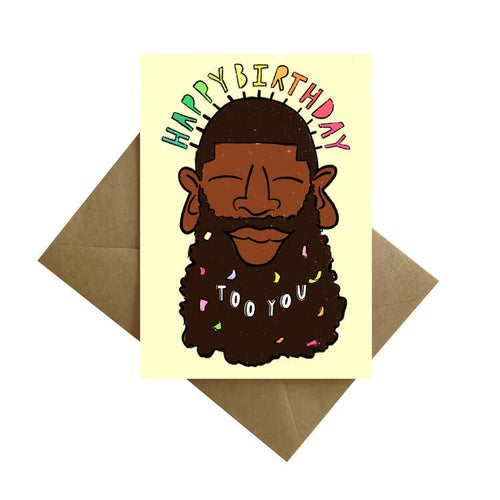 Bearded Man Birthday Card