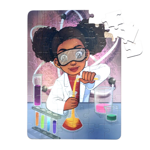 Large Chemistry Girl Puzzle