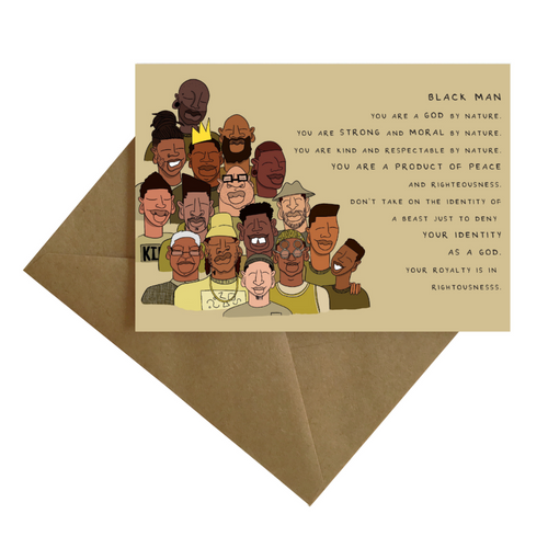 Dear Black Man... Greeting Card