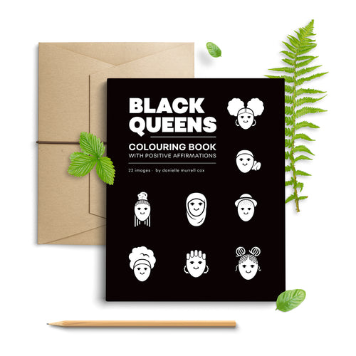 Black Queens & Kings Colouring Book
