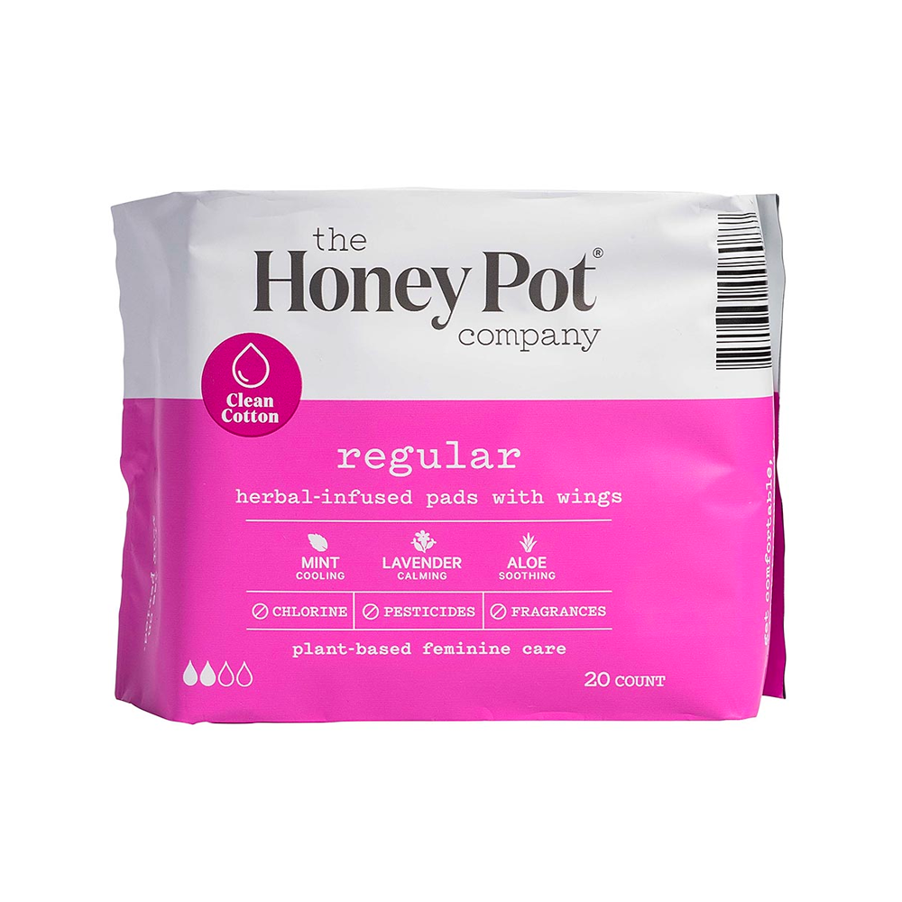 Honey Pot Regular Herbal Pads with Wings