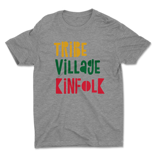 Tribe, Village & Kinfolk T-shirt (Heather Grey)