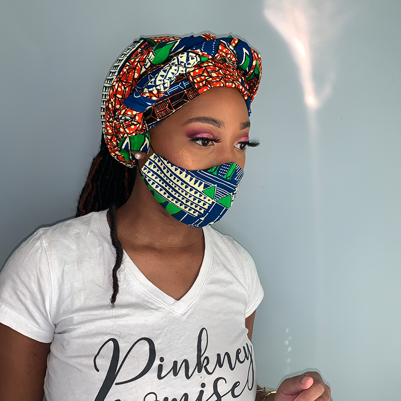 Face Covering & Head Wrap Combo