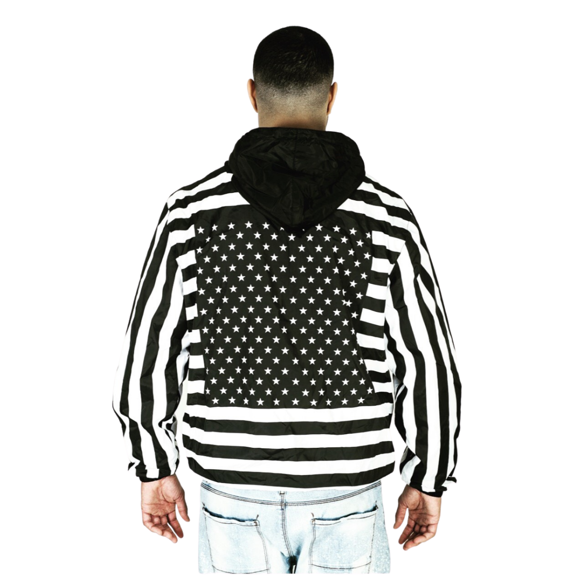 Americana Windbreaker Black & White