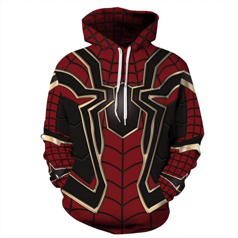 Unisex Superhero 3D Printed Hooded Pullover