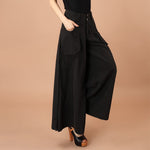 Casual Button Wide Leg Palazzo Pants